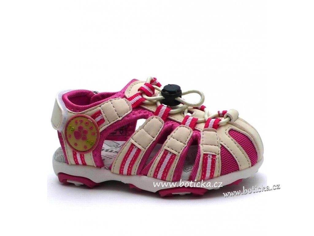 Dětské sandále MAGNUS 45-0182 bílorůžové