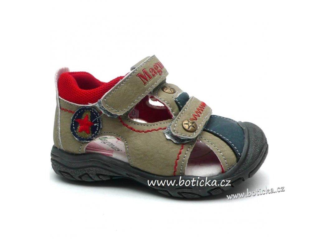 Dětské sandále MAGNUS 45-0186 khaki