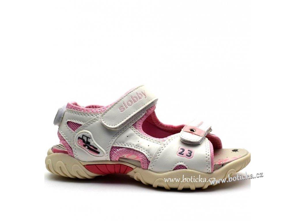 d5de5ba38ba Dětské sandále SLOBBY 45-0565 bílorůžové - Botička