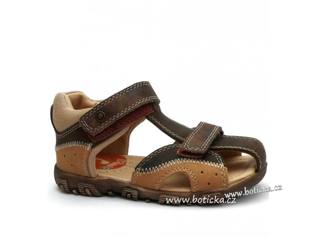 6b09c676cc8d Sandále PONTE PS215 hnědé - Botička