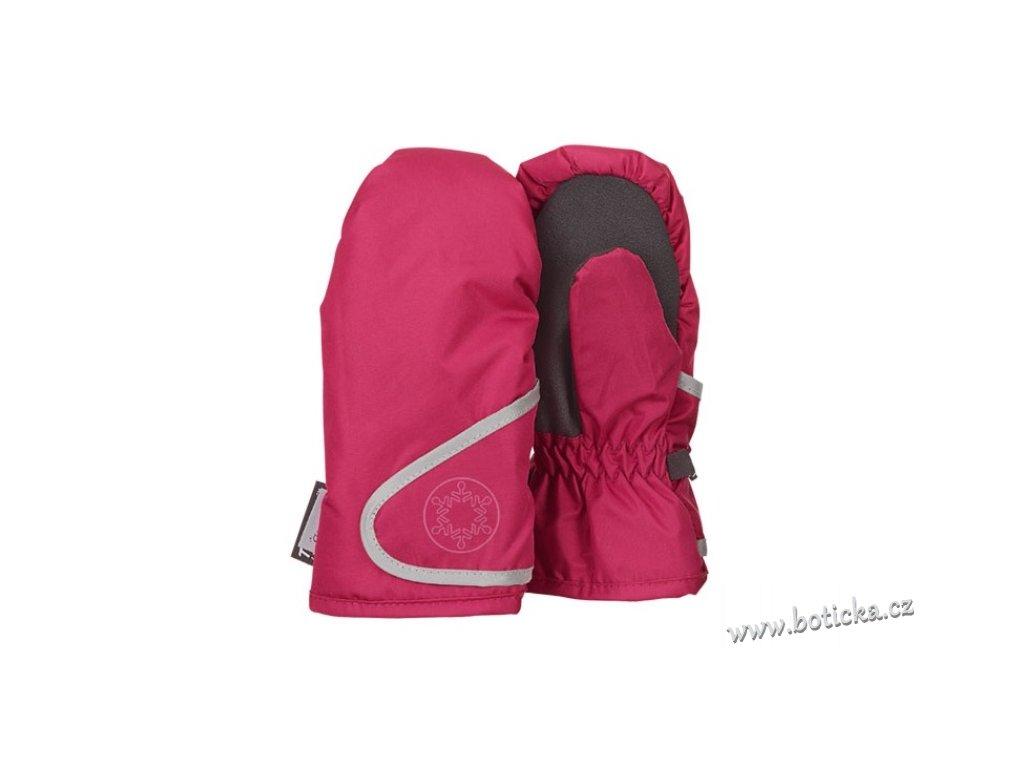 Rukavice STERNTALER 4321802 voděvzdorné tm. růžové