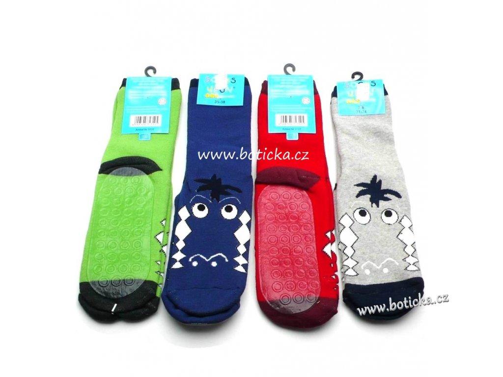 Protiskluzové ponožky silikon Socks 4 fun