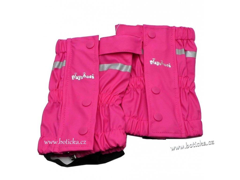 Návleky přes kalhoty Play shoes růžové