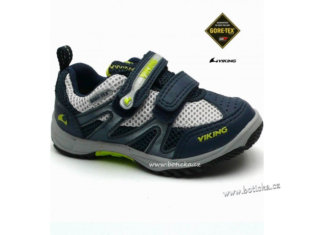 VIKING obuv 3-40230 navy/lime