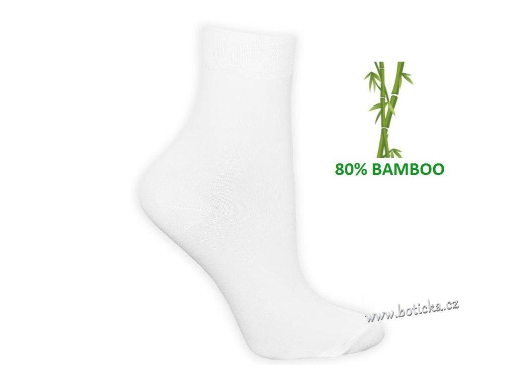 Bambusové ponožky Tuptusie bílé