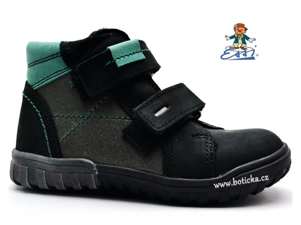 Dětské boty SÁZAVAN ESSI S 1846 černozelené - Botička 1423770238