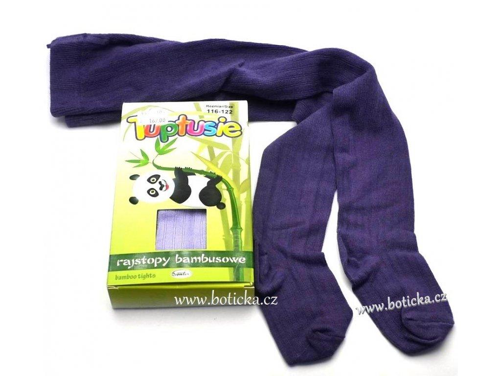Bambusové punčocháče Tuptusie tm. fialové