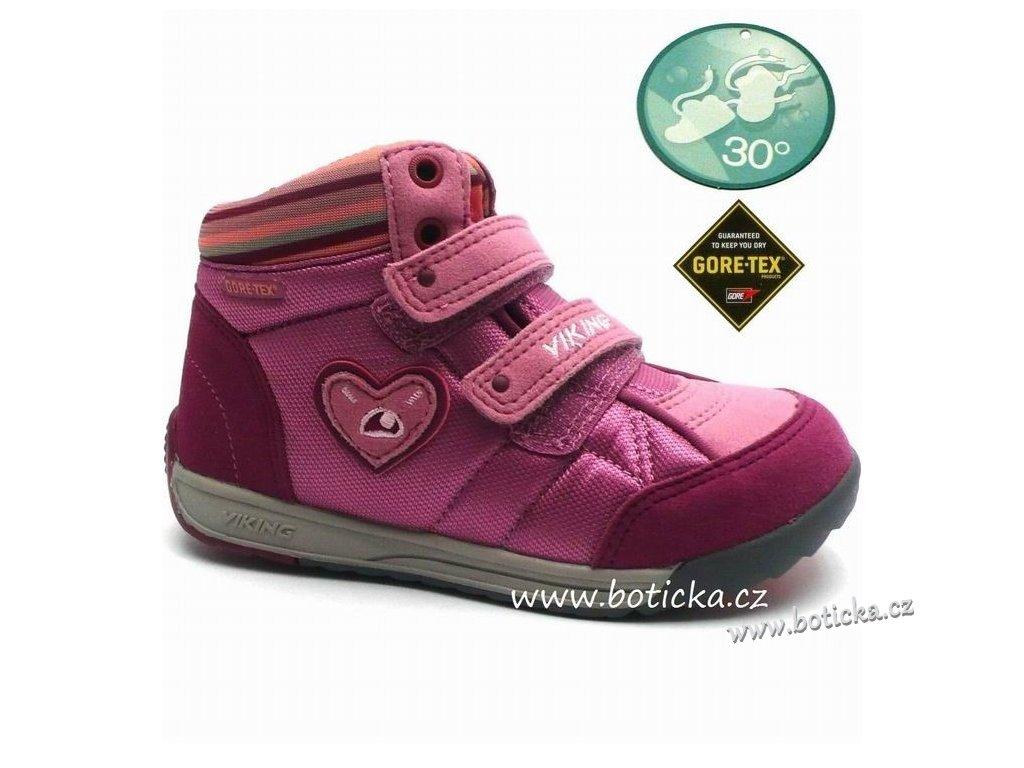 VIKING obuv 3-42350 rose charcoal - Botička 986b30ad06