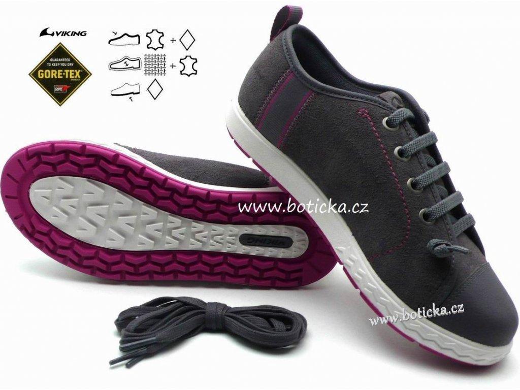 VIKING obuv 3-43650 grey - Botička a00edb06bc