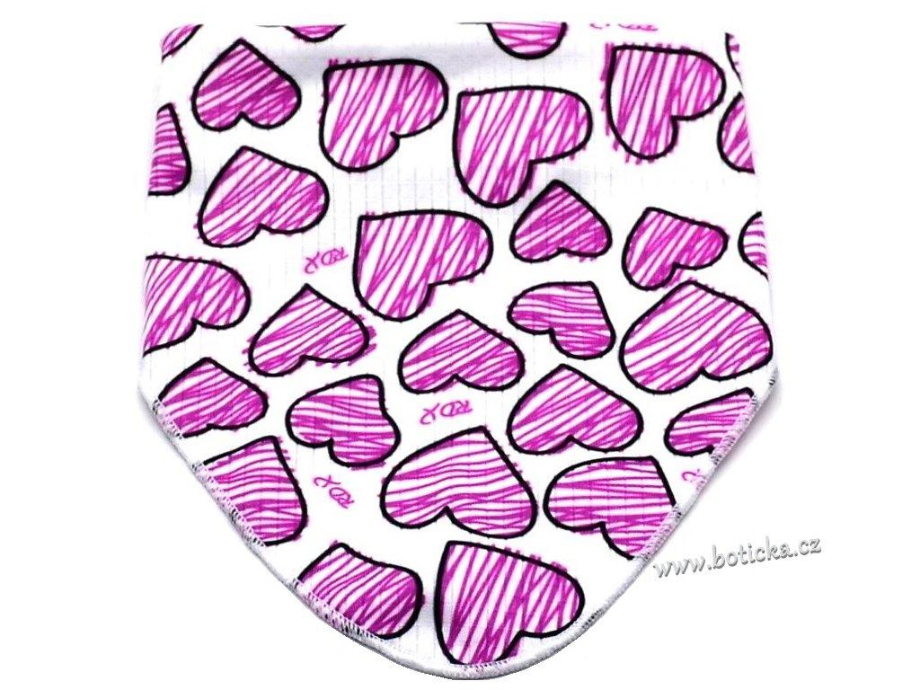 Nákrčník RDX 337 Škrábané srdce 22