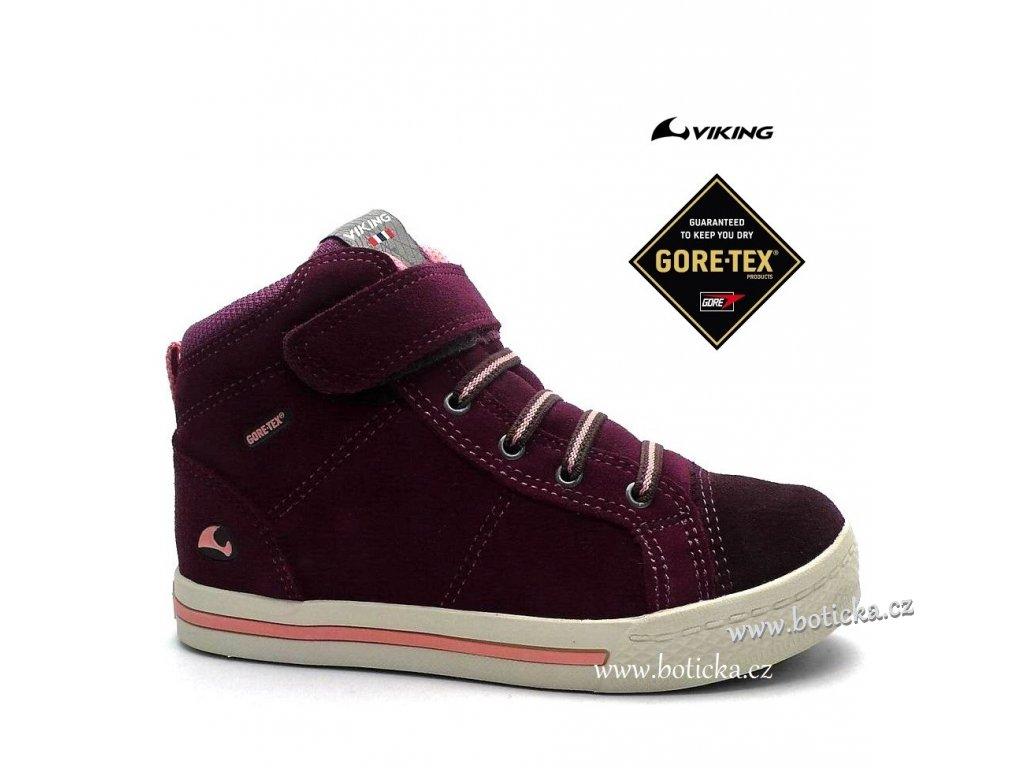 VIKING obuv 3-83070 gore-tex Falcon růžové - Botička 93824b4529
