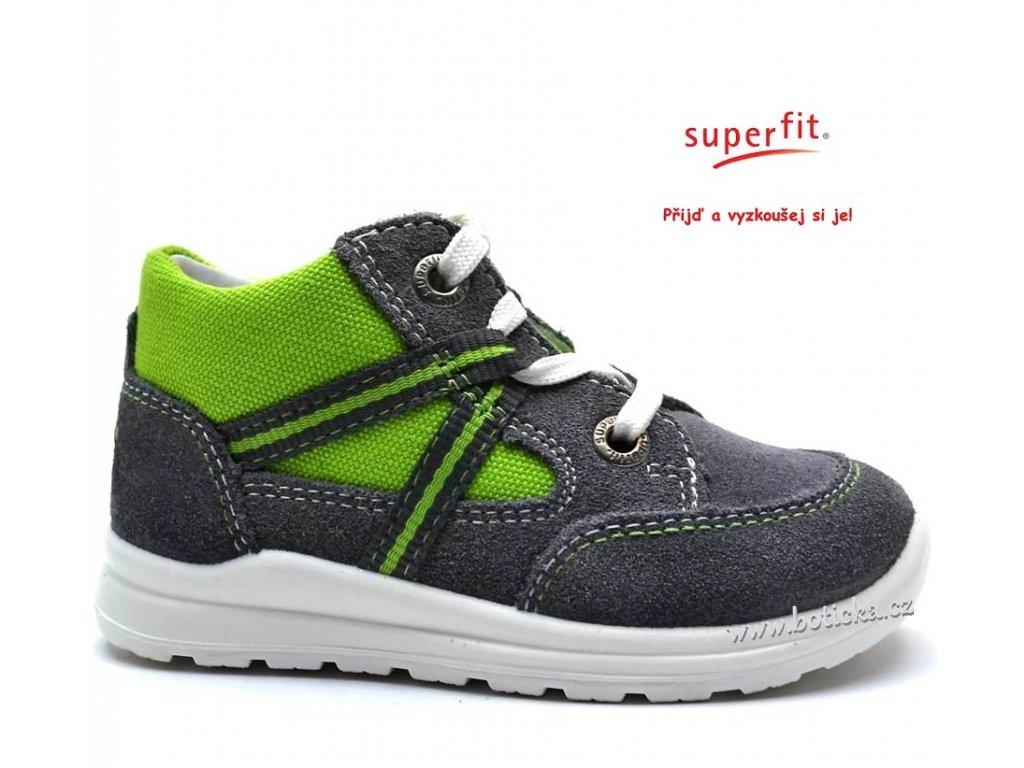 f3b389389a6 Dětské boty SUPERFIT 2-00322-45 smoke kombi - Botička