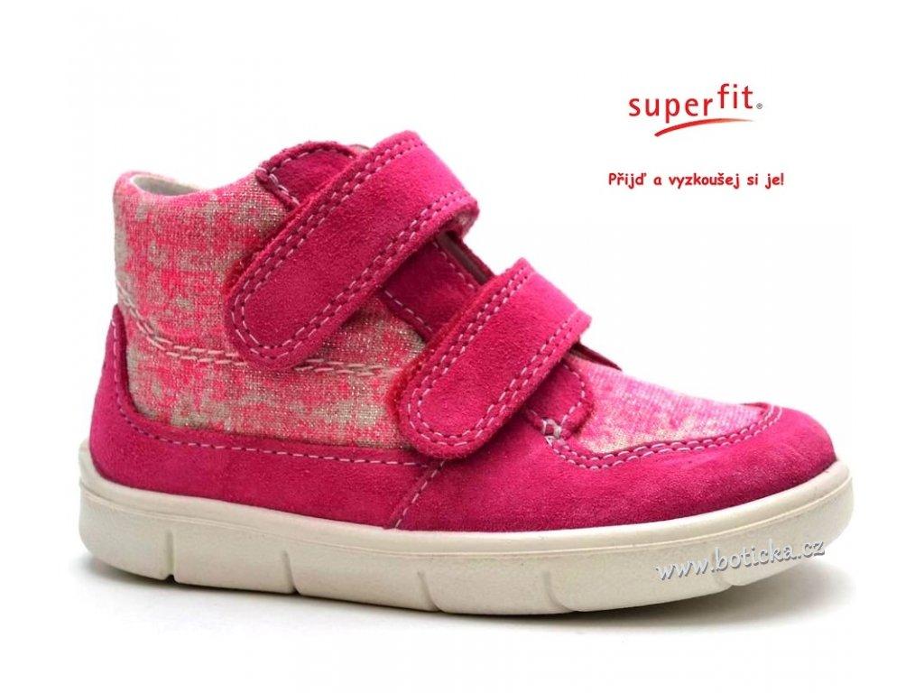 2d67236295c Dětské boty SUPERFIT 2-00429-64 pink kombi - Botička