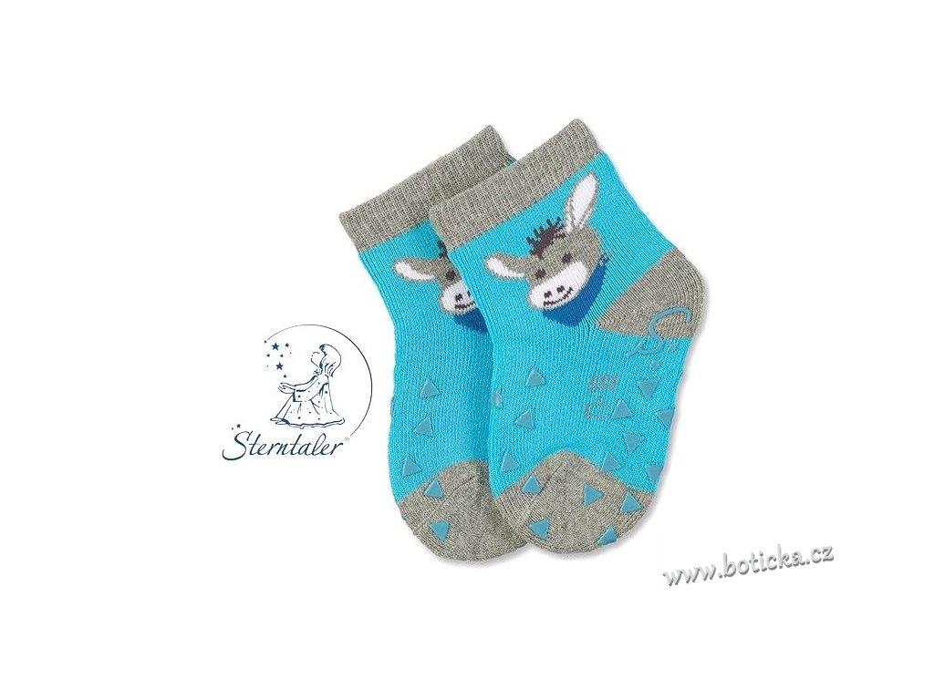Protiskluzové ponožky STERNTALER 8011781 oslík - Botička 52afb3b111