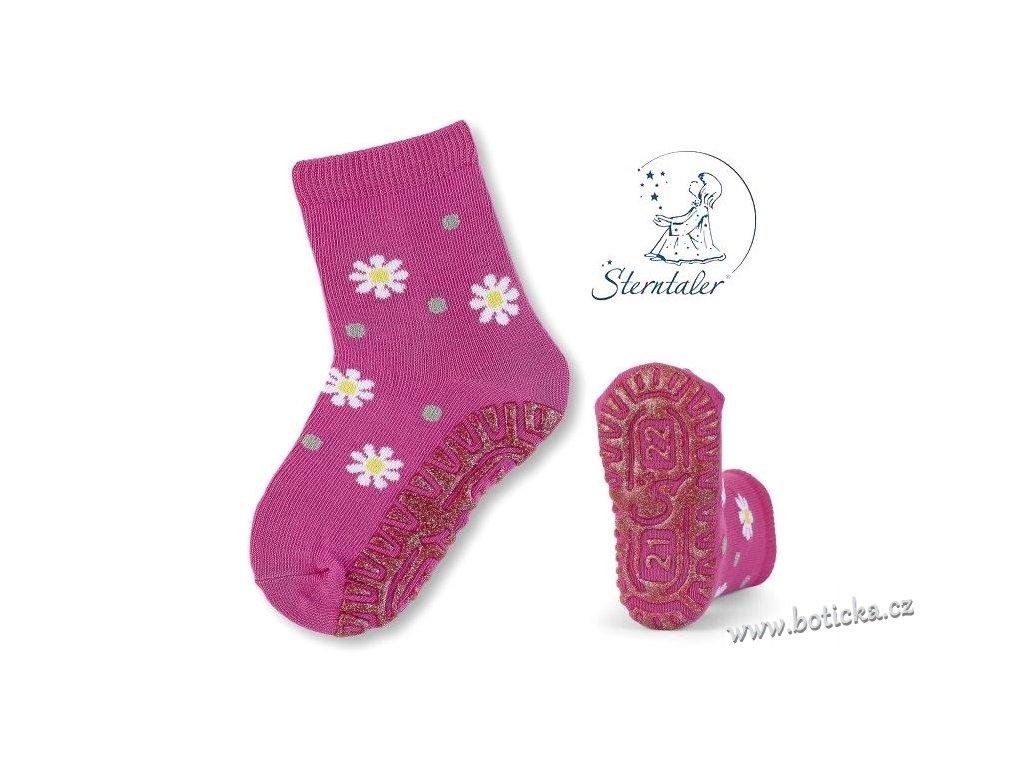 Protiskluzové ponožky STERNTALER 8021810 kytičky - Botička 4d74f293f8