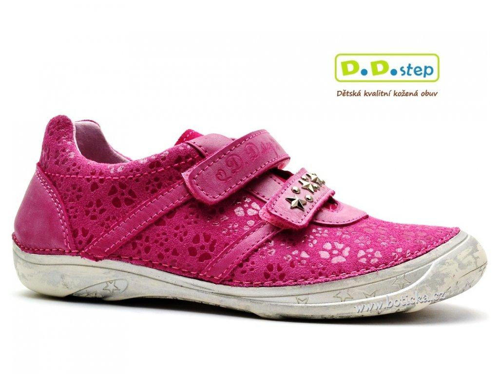 Dětské boty DDstep 046-604A tm. růžová
