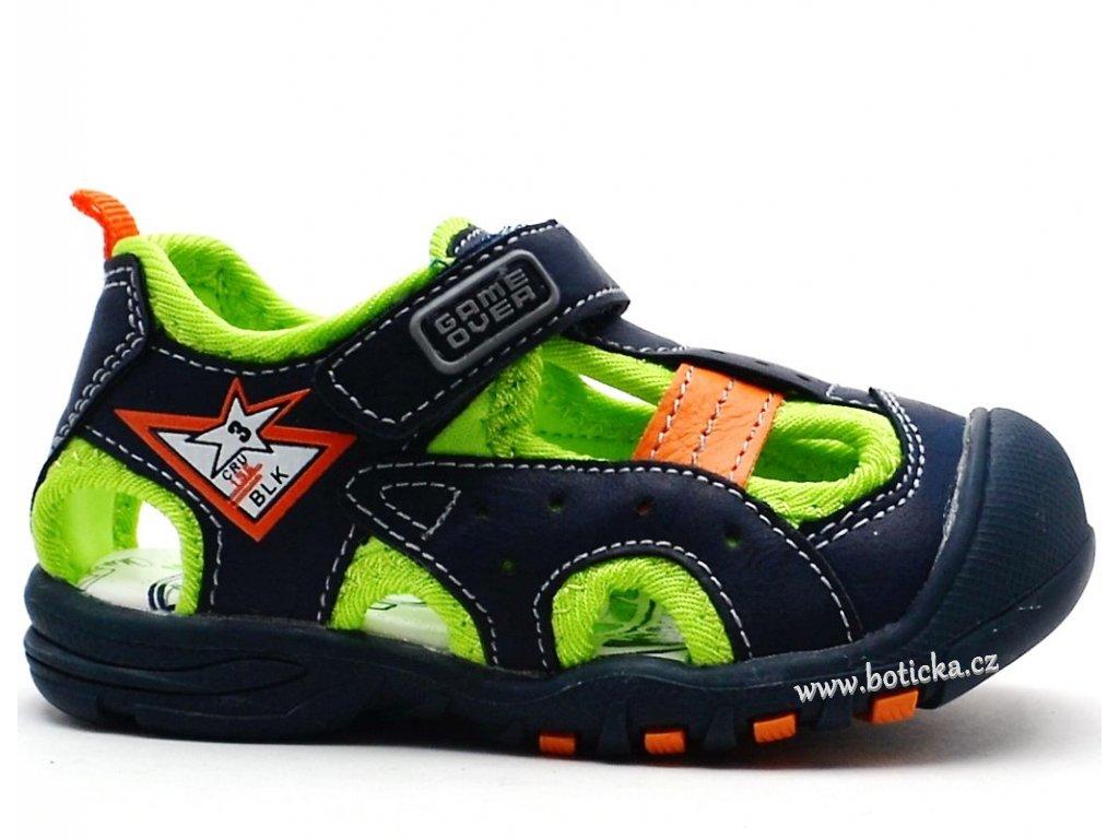 Dětské sandále MAGNUS 45-0298 modré - Botička 44bfb579d1