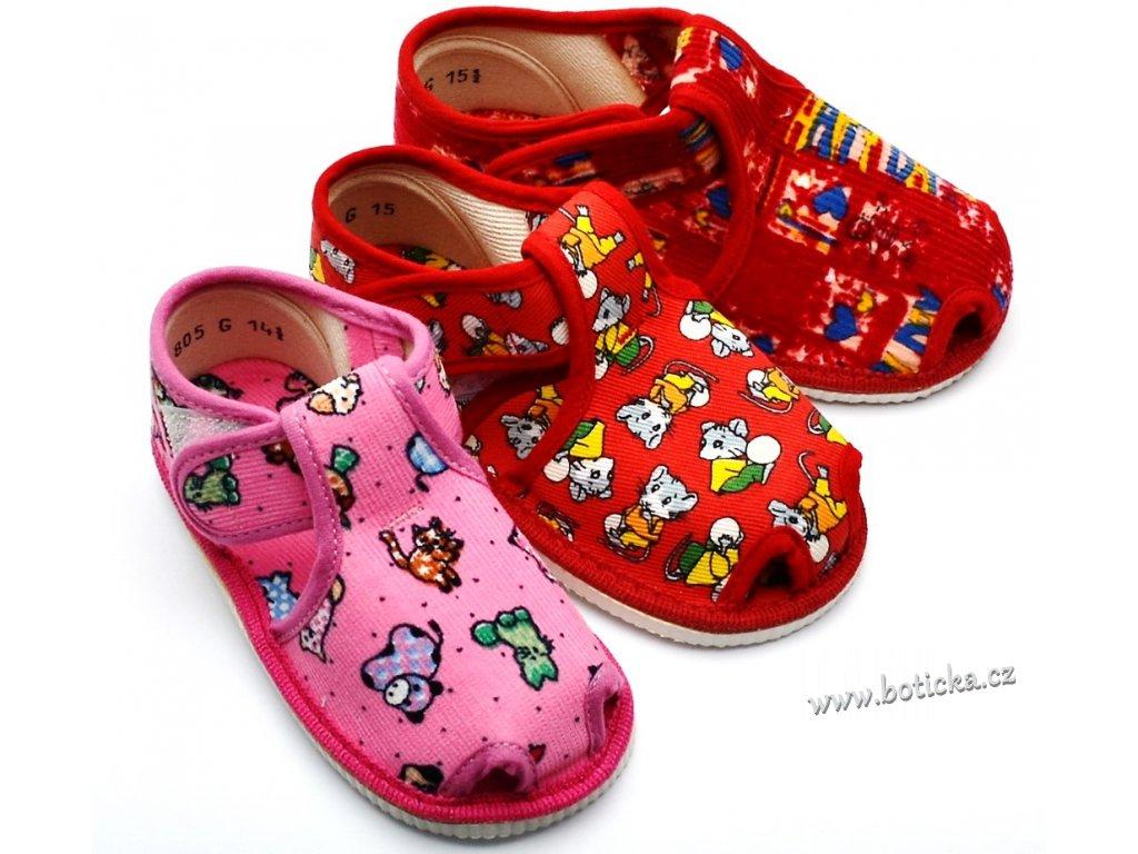 Dívčí bačkory HP Čechtín 805 sandál, suchý zip