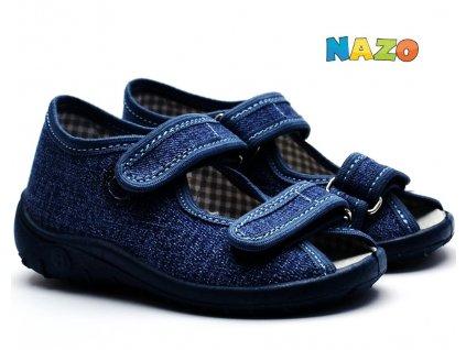 NAZO sandále chlapecké NA/010 CB denim