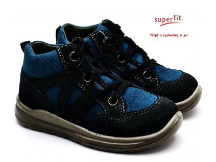 SUPERFIT 3-00323-20 grau/blau Dětské boty