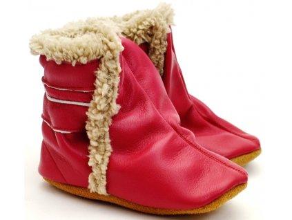 Zimní capáčky Hopi Hop tm. růžové