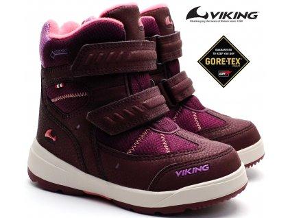 Zimní boty VIKING 3-87060 6251 Plum/coral