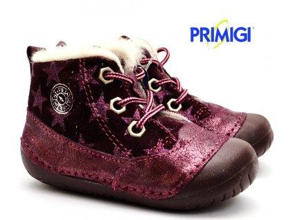 Zimní barefootové boty PRIMIGI 2400011 bordo