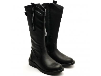 Dívčí kozačky L82/218-022 černé