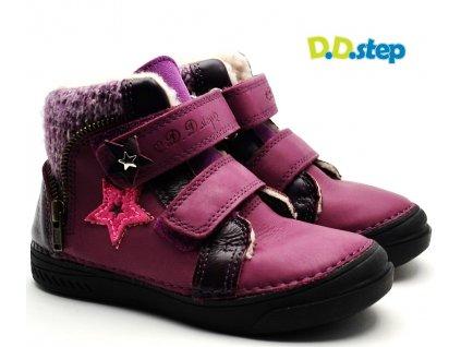 Zimní boty DDstep 040-417A vínová