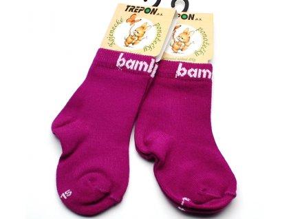 Bambusové ponožky Trepon Bobik růžové