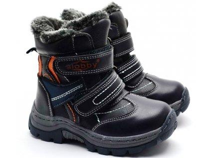 Zimní obuv Slobby 46-0337-T1 oranžovošedé