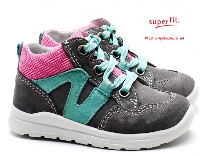 SUPERFIT 4-00323-25 grau/rosa Dětské boty