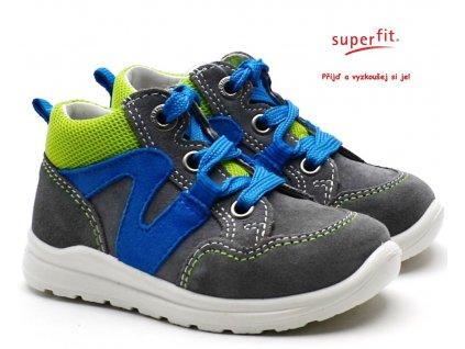 SUPERFIT 4-00323-26 grau/grun Dětské boty