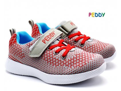 Tenisky PEDDY PO5072205 šedočervená