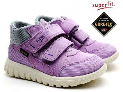 SUPERFIT 4-00193-90 lila/grau Dětské boty