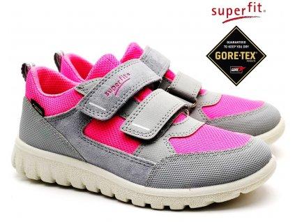 SUPERFIT 4-09190-25 grau/rosa Dětské boty
