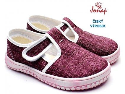 JONAP B6 Dětské barefoot bačkory dívčí