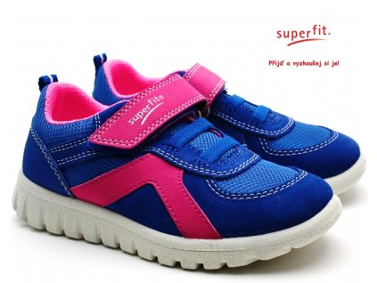 SUPERFIT 4-09192-81 blau/lila Dětské boty