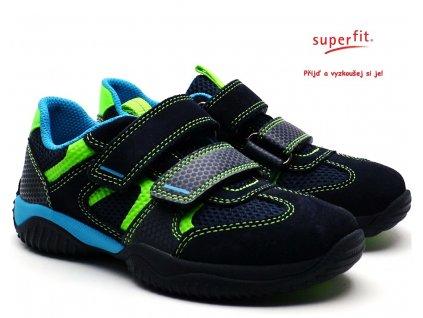 SUPERFIT 4-09380-81 blau/grun Dětské boty
