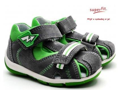 Dětské sandále SUPERFIT 4-09145-25 hellgrau/grun