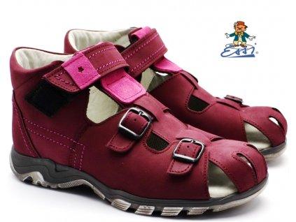 Dětské sandále SÁZAVAN ESSI S7035 vínové