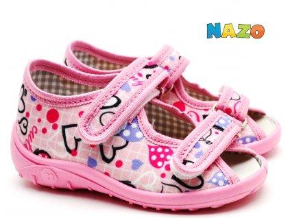 NAZO sandále dívčí NA/010 SA růžové