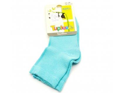 Bambusové ponožky Tuptusie tyrkysové
