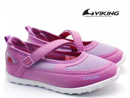 Dívčí baleríny Viking 3-48780 6551 Lavender/Coral