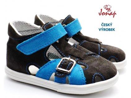 JONAP 009s Dětské sandále šedomodré