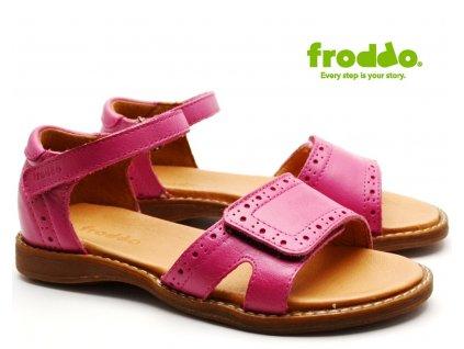 FRODDO G3150126-1 dívčí sandále růžové