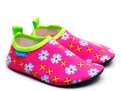 Barefoot boty do vody Playshoes 174908 květy
