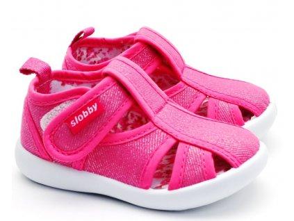 SLOBBY 130-0034-T1 Dětské sandále růžové