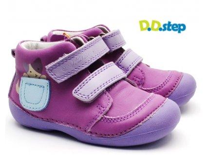 Dětské boty DDstep 015-183 levandulová