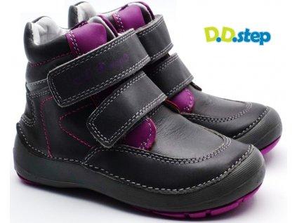 DDstep 023-806B Dětské boty růžovošedé
